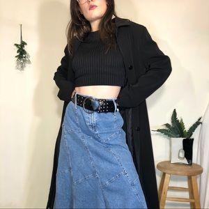 Accessories - Super wide studded black punk belt